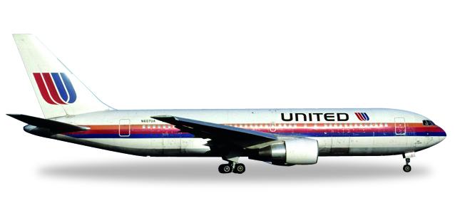 "530187    Boeing 767-200 ""United Airlines Rainbow / Saul Bass"", Herpa Wings"