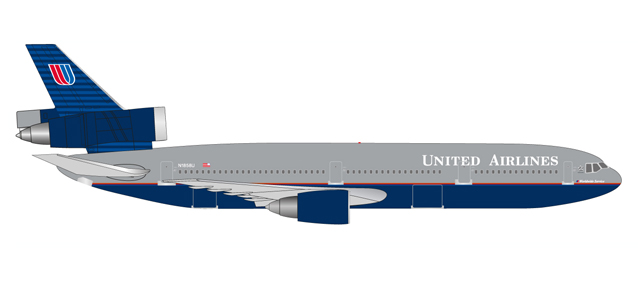 "530941    McDonnell Douglas DC-10-30 ""United Airlines Battleship"", Herpa Wings"