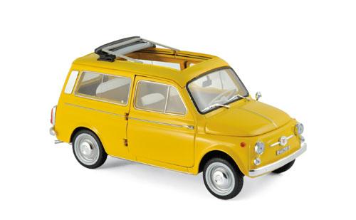 187724  Fiat 500 Giardiniera 1968, geel, Norev