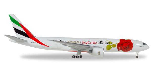"531009    Boeing 777F ""Emirates, From Emirates SkyCargo with Love"", Herpa Wings"