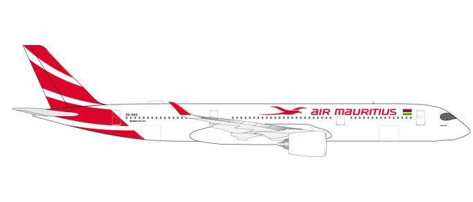 "531184    Airbus A350-900 ""Air Mauritius"", Herpa Wings"