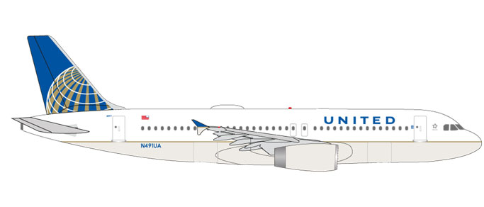 "531252    Airbus A320 ""United Airlines"", Herpa Wings"
