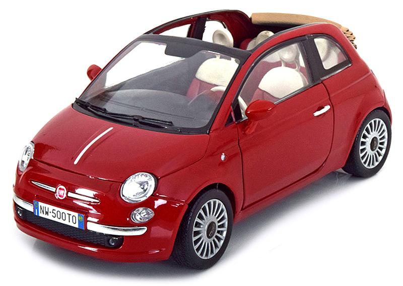 79164R  Fiat Nuova 500 Cabriolet, rood, Motor Max