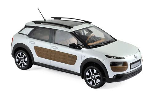181651  Citroën C4 Cactus 2014 parelwit & chocolade Airbump, Norev