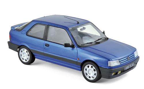 184881  Peugeot 309 GTI 16 1991, Miami blauw, Norev