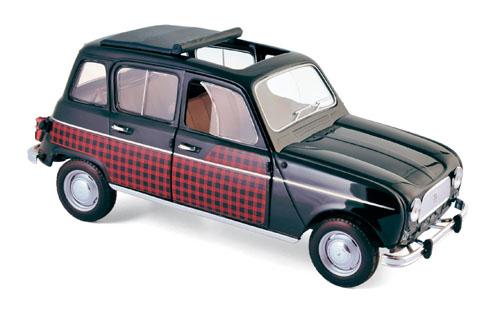 185242  Renault 4 Parisienne 1964, zwart & rood, Norev