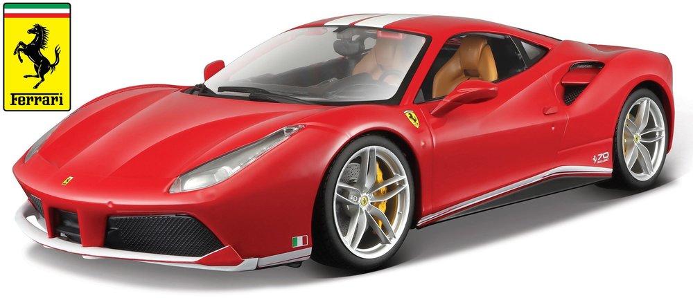 """18-76102  Ferrari 488 GTB """"70 jaar M. Schumacher"""", Bburago"""