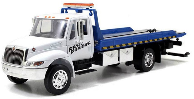 "97218    International Durastar 4400 Flat Bed ""The Fast & The Furious"", Jada Toys"