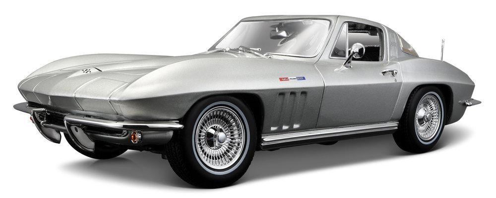 31640S  1965 Chevrolet Corvette, zilver, Maisto