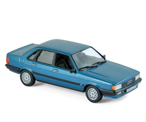 830027  Audi 80 Quattro 1985, blauw met., Norev