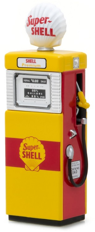 14030-B    Shell oil Gas pump, Greenlight