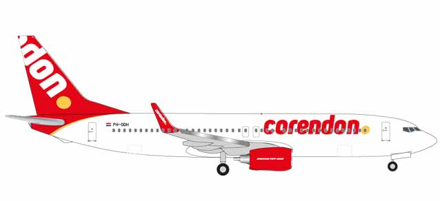 "531399    Boeing 737-800 ""Corendon Dutch Airlines (NL)"", Herpa Wings"