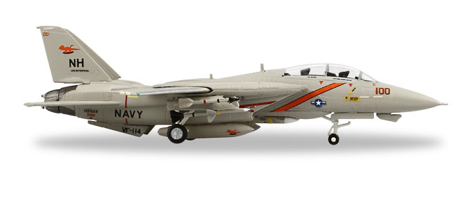 "558884    F-14A Tomcat ""US Navy VF-114 Aardvarks U.S.S. Enterprise"", Herpa Wings"