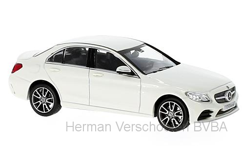 B66960447  Mercedes-Benz C-Klasse Mopf (W205), met., wit, Norev