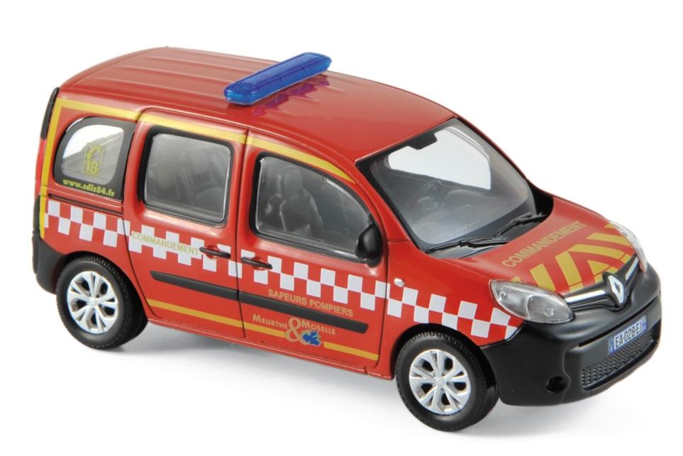 """511395  Renault Kangoo 2013 """"Pompiers Poste de Commandement"""", Norev"""