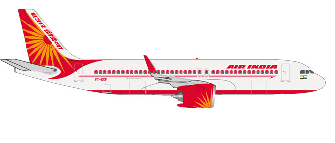 "531177    Airbus A320neo ""Air India"", Herpa Wings"