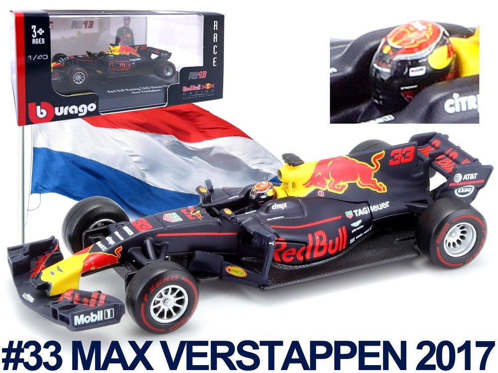 "18-38042  Red Bull RB13 F1 #33 ""Max Verstappen 2017"", Bburago"