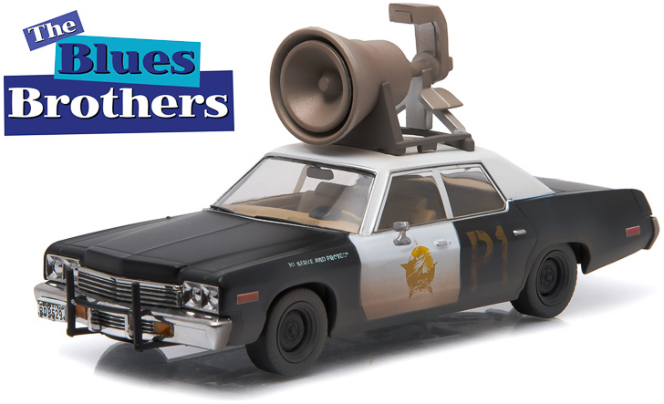 "86423    Dodge Monaco 1974 ""Bluesmobile, The Blues Brothers"", Greenlight"