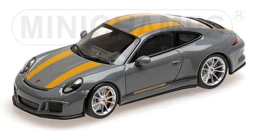410066232  Porsche 911 R 2016, grijs, Minichamps
