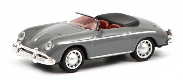452632900  Porsche 356 A Cabrio, grijs, Schuco
