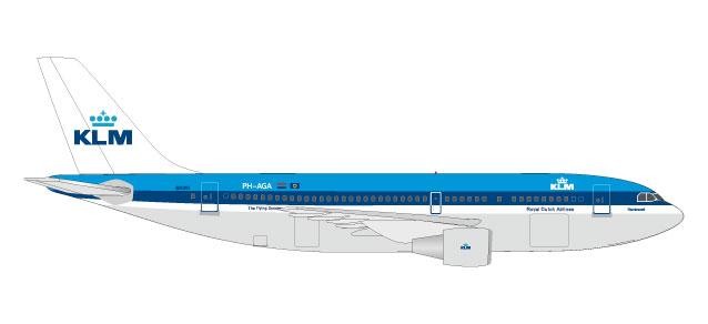 """531573 Airbus A310-200 """"KLM (NL)"""", Herpa Wings"""