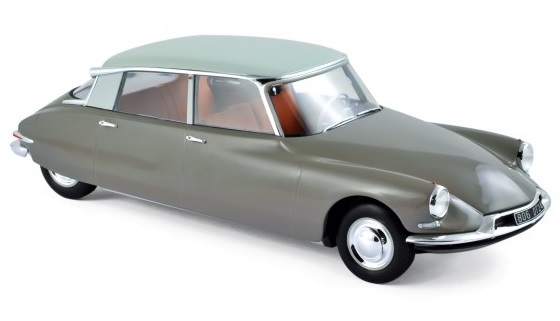 181481 Citroën DS 19 1959, Marron glacé & Blanc Carrare, Norev
