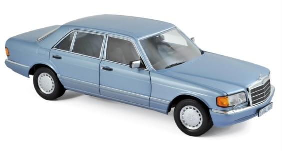 183464 Mercedes-Benz 560 SEL 1991, Pearl Blue Met., Norev