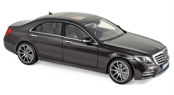 183483 Mercedes-Benz S-Klasse AMG-Line 2018, Ruby zwart met., Norev