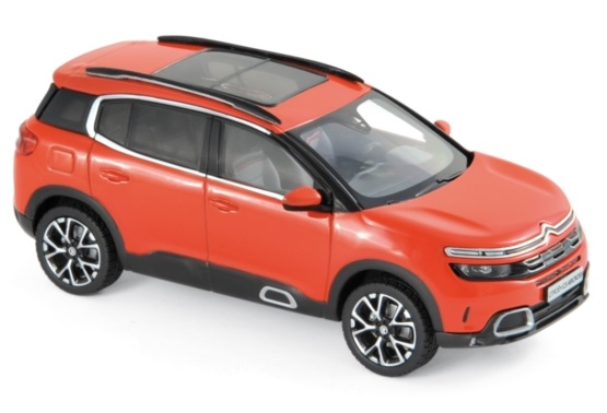 155561 Citroën C5 Aircross 2018, Volcano Red & Zilver, Norev