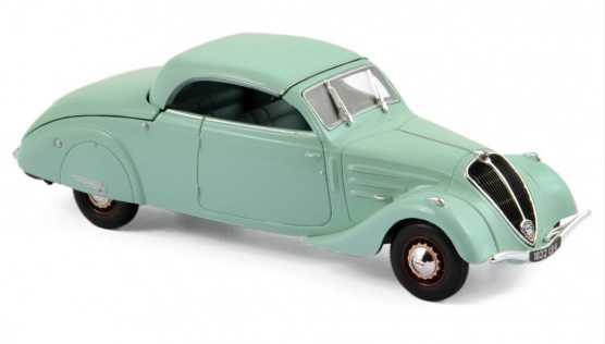 474218 Peugeot 402 Eclipse 1937, lichtgroen, Norev