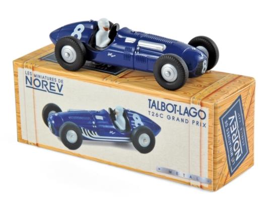 CL5812 Talbot-Lago T26C 1950 N°8 - Georges Grignard, Norev