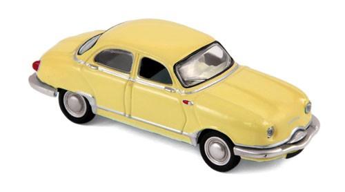 451896 Panhard Dyna Z12 1957, geel, Norev