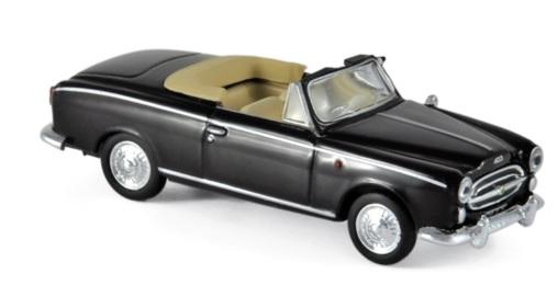 474337 Peugeot 403 Cabriolet 1957, zwart, Norev