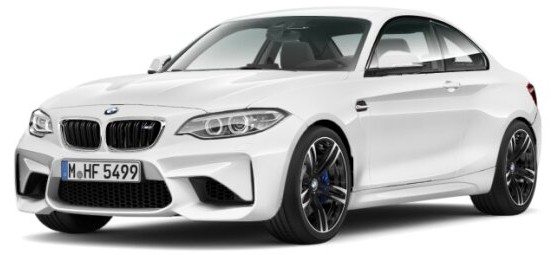 410026104 BMW M2 Coupé 2016, wit, Minichamps