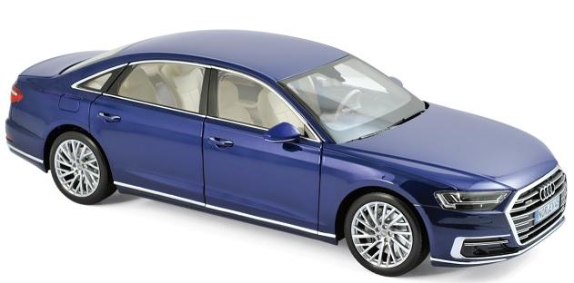 188365 Audi A8 L 2017, blauw met., Norev