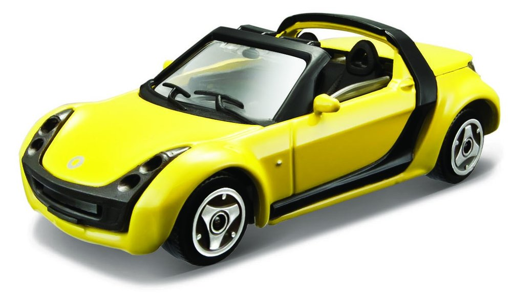 18-30176G Smart Roadster, geel, Bburago