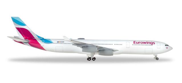 """531566 Airbus A340-300 """"Eurowings"""", Herpa Wings"""
