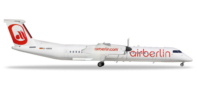 "559355 Bombardier Q400 ""airberlin - albino colors"", Herpa Wings"