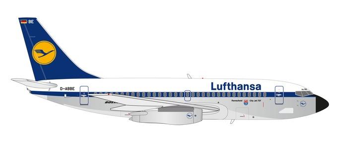 """559430 Boeing 737-200 """"Lufthansa Remscheid"""", Herpa Wings"""