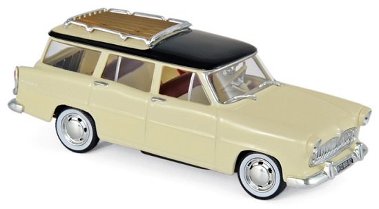 574055 Simca Vedette Marly 1957, Paille Yellow & Black, Norev