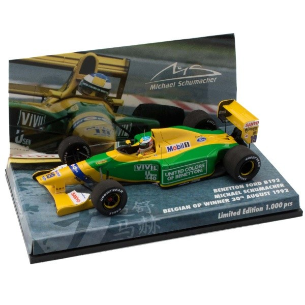 "447920019 Benetton Ford B192 1992 ""M.Schumacher"", Minichamps"