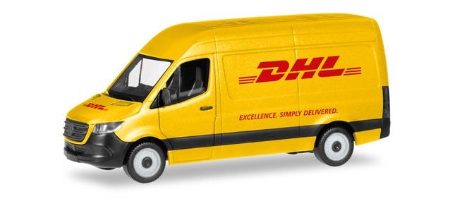 """Artikelnummer 94313   Mercedes Benz Sprinter """"DHL"""", Herpa"""