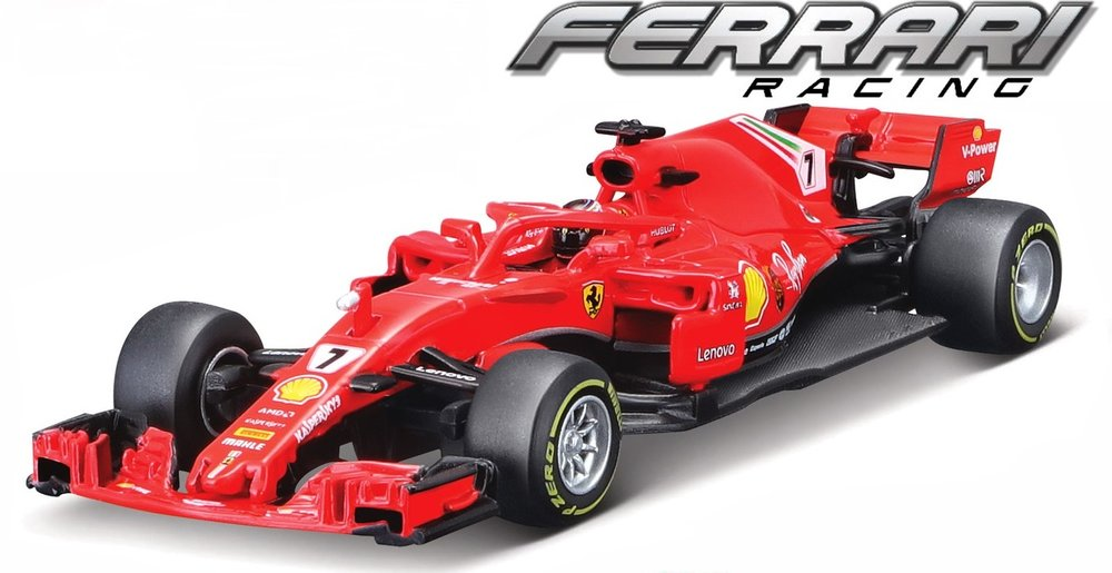 "18-36808 Ferrari SF71H, ""Vettel/Räikkönen"", Bburago"