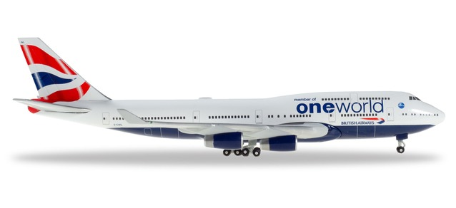 "531924 Boeing 747-400 ""British Airways One World"", Herpa Wings"