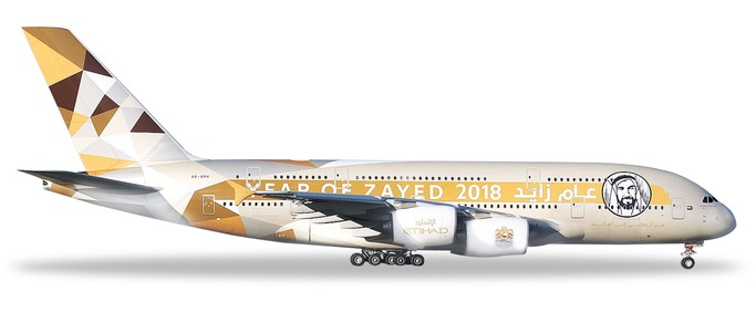 "531948 Airbus A380-800 ""Etihad Airways Year of Zayed"", Herpa Wings"