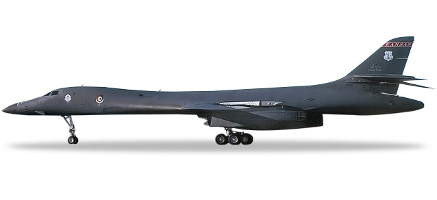 "559263 Rockwell B-1B Lancer ""USAF K. ANG 127th BS Intertr. War. A."", Herpa Wings"