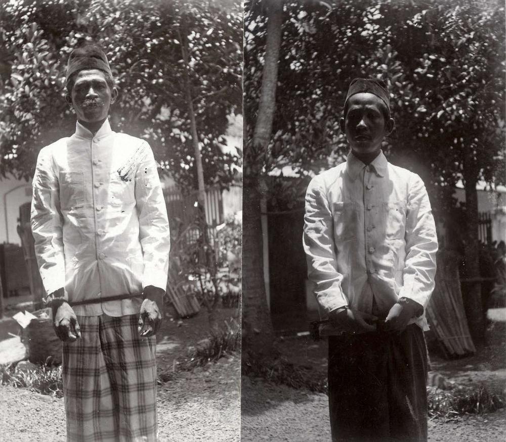 Menjelang eksekusi pemimpin PKI Ciamis, Dirja dan Egom, paska pemberontakan terhadap pemerintah kolonial Belanda. 1927.