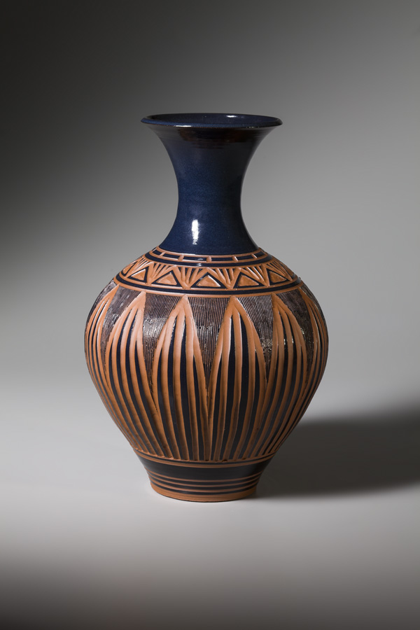 Vase in Black with Triangles • $250