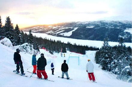 Fylkets største alpinanlegg 10 minutter fra skolen
