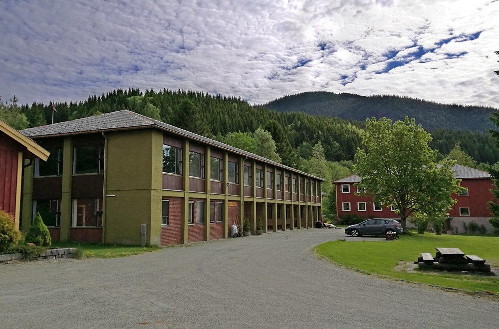 Hægstadhuset: Her kommer det et tilbygg med amfi og nytt inngangsparti.